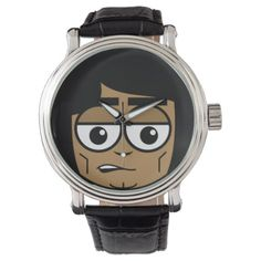 Workingman Face Wrist Watch - drawing sketch design graphic draw personalize