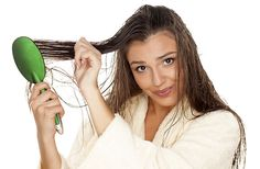 8. Don't Brush Your Hair When Wet