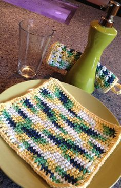 Easy Half Double Crochet Dish Cloth Pattern