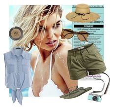 """""""Safari"""" by store-ba ❤ liked on Polyvore featuring Object Collectors Item, Havaianas, Ray-Ban, Lisa Battaglia and Topshop"""