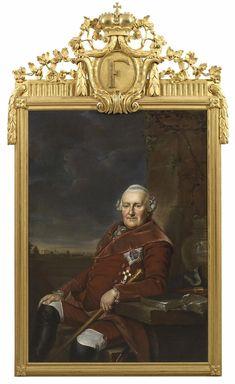 Johann Georg Ziesenis Friedrich Ii, Fine Art Auctions, Minden, Portrait, Dusty Rose, Lord, Painting, Crests, Dusty Pink