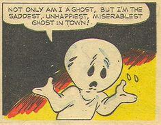 Photo Vintage Casper Saddest Ghost | Retro Comic Book Pop Art Illustration