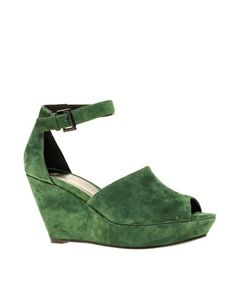 ASOS HIDE AWAY Two Part Suede Wedge Sandal  $107.82NOW $57.50