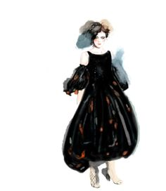 fashion illustration - CHANEL SS13, LOOK 2, joe tin illustration.