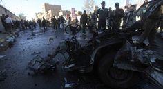 انفجار بكلية الشرطة في صنعاء يسقط أثره عشرات القتلى و الجرحى