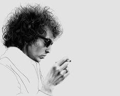 Creative Works by Zoran Nova - Bob Dylan Bob Dylan Art, Bob Dylan Poster, Fashion Illustration Face, Illustration Art, Graphite Illustrations, Multimedia Arts, Up In Smoke, Cultura Pop, Color Stories