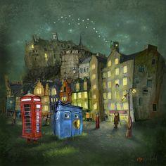 Strange Night (Grassmarket) by Matylda Konecka