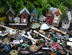 Amazing what adding a little trash to a birdhouse can do!