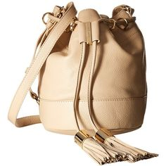 See by Chloe Vicki Small Bucket With Crossbody Strap (Sand Shell)... ($276) ❤ liked on Polyvore featuring bags, handbags, shoulder bags, purse shoulder bag, bucket shoulder bag, beige shoulder bag, hand bags and shoulder strap bags
