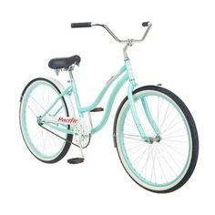 This looks exactly like the my new bicycle Jason got me. :) Oceanside Cruiser Bicycle >> I want one! Bici Retro, Retro Bike, Cruiser Bicycle, Bicycle Lights, Retro Chic, Retro Style, Woman Beach, Tiffany Blue, Cool Stuff