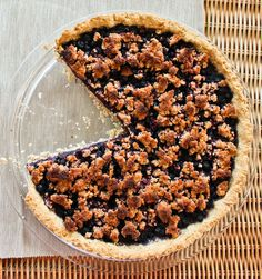 Blueberry Crumble Tart made with @ottosnaturals Cassava Flour | Paleo Pumpkin
