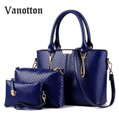 28.04$  Watch now - http://ali2gy.shopchina.info/go.php?t=32684742780 - New 3 Pcs/ Set Women Solid Color Handbags PU Leather Women Totes Bag Ladies Designs Bag Handbag+Messenger Bag+Purse Business Bag 28.04$ #SHOPPING