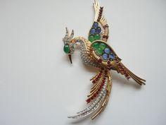 bird of paradise vintage brooch probably boucher £74.00 (3B)