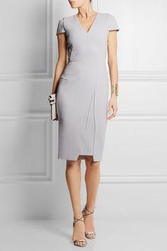 Roland Mouret|Adalia wool-crepe dress|NET-A-PORTER.COM