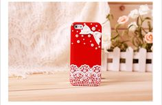 Fashion iphone 4 case case Lace case bows