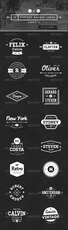 16 Vintage Badges Logos Template | Buy and Download: http://graphicriver.net/item/16-vintage-badges-logos-number-03/8392367?WT.ac=category_thumb&WT.z_author=vuuuds&ref=ksioks