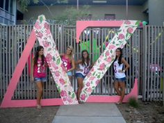 DZ bid day letters. Maybe do this in Theta's Lily print for Bid Day 2012? NOT Recruitment.