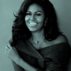 """""""I am an example of what is possible when girls from the very beginning of their lives are loved and nurtured by people around them. I was surrounded by extraordinary women in my life who taught me about quiet strength and dignity. Female Leaders, Successful Women, Famous Women, Michelle Obama, One And Only, Business Women, Strength, Girls, People"""