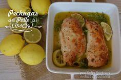 Una receta muy rica y fácil de hacer. Además estas pechugas de pollo al limón les encantarán a los peques de la casa porque no tienen que quitar huesos,