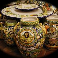 Italian pottery vases...I simply adore (and collect) gaudy Italian pottery!  Love the stuff...