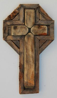 mexican wooden cross   Handcrafted Wood Cross Made in Taos New Mexico X5 by Vodwallart