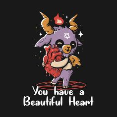 Check out this awesome 'You+Have+a+Beautiful+Heart' design on Aesthetic Art, Witch Aesthetic, Dark Art Illustrations, Satanic Art, Witch Art, Baphomet, Creepy Art, Animes Wallpapers, Occult Art