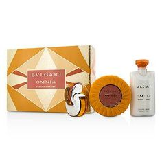Omnia Indian Garnet Coffret: Eau De Toilette Spray 15ml-0.5oz + Scented Soap 150g-5.3oz + Body Lotion 75ml-2.5oz - 3pcs