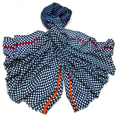 Etole laine étamine bleu marine pois - Etole/Etole laine - Mes  Echarpes http://www.mesecharpes.com/etole/etole-laine/etole-laine-etamine-bleu-marine-pois.html