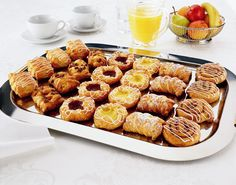 Danish pastries on a platter