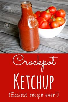 Who knew making ketchup could be so easy? Try my crockpot ketchup recipe, and you'll never go back to store-bought!
