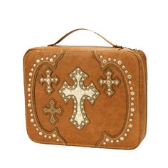 Amber 4 Cross Bible Cover | Western Bible Covers