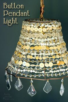 diy luz pingente de botão, idéias quarto, elétrica, decoração, iluminação, reaproveitamento upcycling