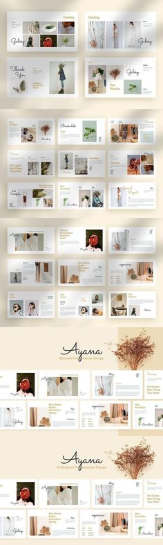 Ayana - Presentation Template Free Web Fonts, Brand Guidelines, Type Setting, Social Media Design, Presentation Templates, Ecommerce, Branding Design, Things To Come, Layout