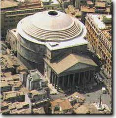 This is the Pantheon located in Rome, Italy. It was built and dedicated between 118-125 A.D.
