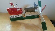 Vintage Wood Folk Art Whirligig Christmas Santa Claus Sleigh Walston Woodcraft | eBay