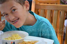 DUKE'S BEACH HOUSE - Ka'anapali, Maui - デュークス・ビーチハウス、マウイ。キッズメニューもなかなか!
