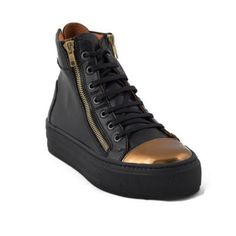 NAE Ibiza Black Vegan Leather High Tops, perfect for any season. €135 on Eluxe Exclusives