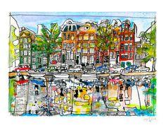 Carte postale Amsterdam, Dyguiluge