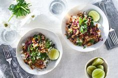 Spicy Pork Larb With Vegetables & Herbs recipe on Food52