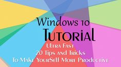 Top 20 Ultra Fast Tips, Tweaks, Secrets, Tricks and Features | Windows 1...