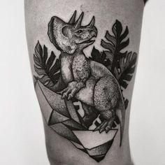 Triceratops for my friend Elsa. Vegan Dino! Thanks!  contact via: rsilveiratattooer@gmail.com  #rsilveira #acasahermetica #blackworkerssubmission #blackworkers #inkme #darkartists #taot #stippling #dotwork #engraving #ttt #lovettt #btattooing #inspirationtattoo #tatttooculturemagazine #bssubmit #dasubmit #awesometattoogallery #tattoo #dinosaur #veggie #vegantattoo #vladbladirons