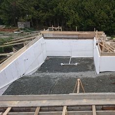 We placed the #rebar in a #pool for #AdcoPools in Burnaby. Here is a pic before we started placing any #steel.