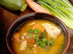 Korean Style Spicy Miso Soup.