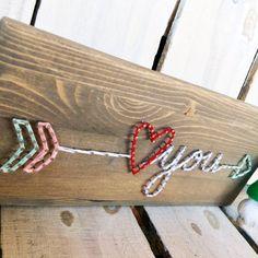 String Art Liebe String Kunst Valentinstag String von GrizzlyandCo