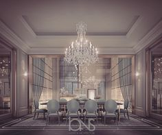 "274 Likes, 4 Comments - ions design (@ionsdesign) on Instagram: ""Our latest luxury dining room design • Private Palace • #dubai #uae #abudhabi #دبي#السعودية #ديكور…"""