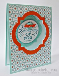 March 01, 2013  Party Fun and Hand Stamped Window Cards  by Patsy Waggoner, Stamps to die for