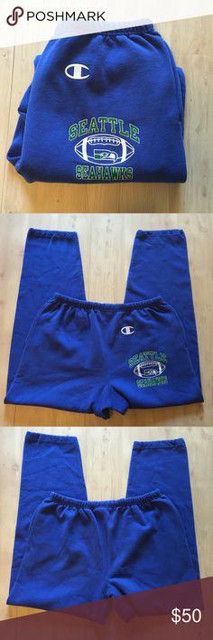 Champion big C logo Seahawks Vtg mens sweats Champion big C logo + Seattle Seahawks + vintage ⭐️mens Sz large sweatpants GUC Champion Pants Sweatpants & Joggers