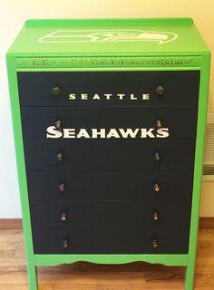 Custom Seahawks dresser