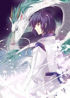 Nigihayami Kohakunushi (literally, God of the Swift Amber River) also known as Haku. Correct? He's the young boy in the anime film Spirited Away.