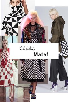 It's not just for your Vans anymore: Bold checkerboard prints are poised to be just the jolt of cheek you didn't know your wardrobe was missing.